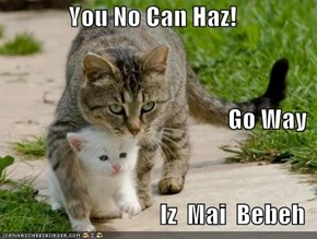 You No Can Haz! Go Way Iz  Mai  Bebeh