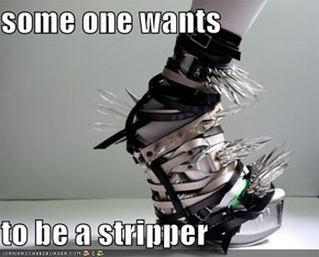 some one wants  to be a stripper