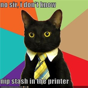 no sir, i don't know  nip stash in the printer