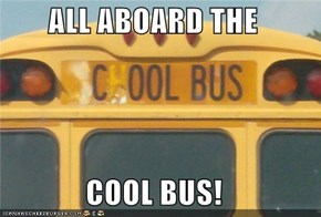 ALL ABOARD THE   COOL BUS!