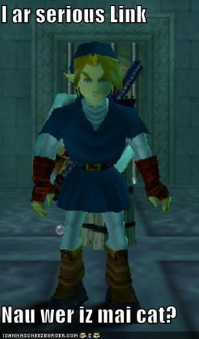 I ar serious Link  Nau wer iz mai cat?