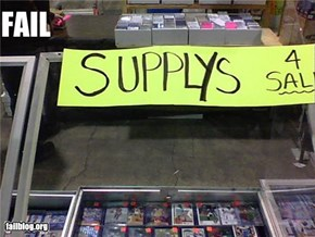 Supplies Fail
