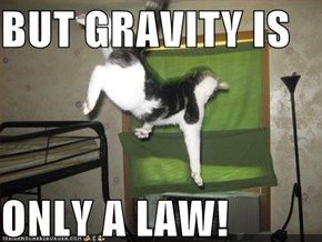 BUT GRAVITY IS   ONLY A LAW!
