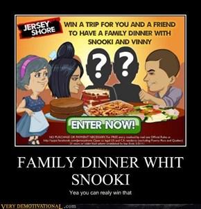 Family dinner fail