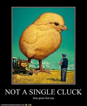 NOT A SINGLE CLUCK