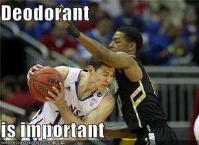 Deodorant  is important