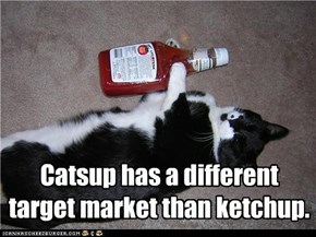 Catsup has a different target market than ketchup.