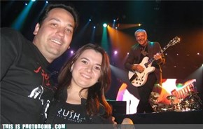 Alex Lifeson Photobomb