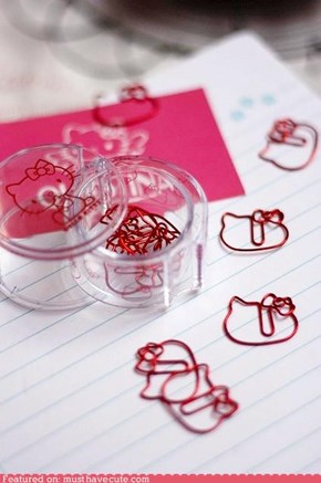 Hello Kitty Paperclips