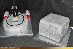 Daily Cake: Star Trek Ship and Borg