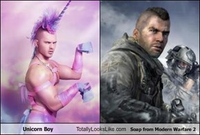 Unicorn Boy Totally Looks Like Soap from Modern Warfare 2