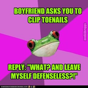 BOYFRIEND ASKS YOU TO CLIP TOENAILS