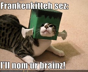 Frankenkitteh sez:  I'll nom ur brainz!