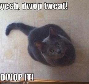 yesh, dwop tweat!  DWOP IT!