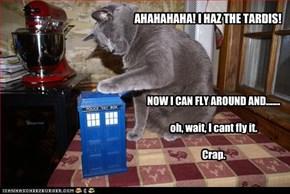 AHAHAHAHA! I HAZ THE TARDIS!