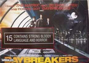 Movie poster content description FAIL
