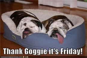 Thank Goggie it's Friday!