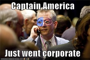 Captain America  Just went corporate