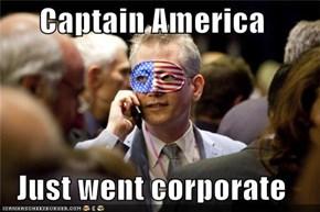 Captain America  Just went corporate