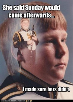 PTSD Clarinet Kid: No More Friday. Ever.