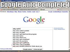 Google Auto Complete fail?