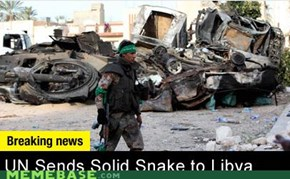 UN Sends Solid Snake to Libya