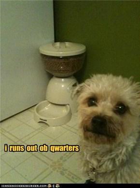 i  runs  out  ob  qwarters
