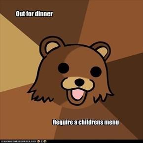 Pedo bear: Dinner