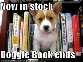Now in stock  Doggie Book ends