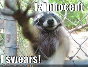 Iz innocent  I swears!