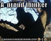A  proud thinker