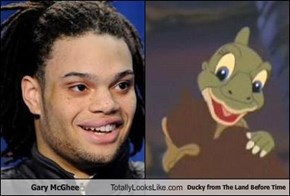 Gary McGhee Totally Looks Like Ducky from The Land Before Time