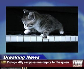 Breaking News - Protege kitty composes masterpice for the queen.