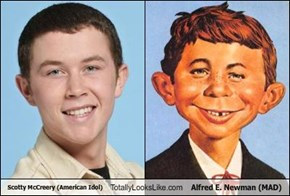 Scotty McCreery (American Idol) Totally Looks Like Alfred E. Newman (MAD)