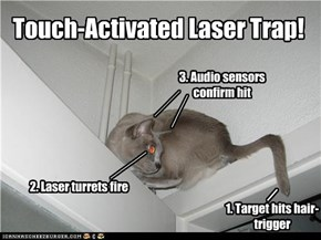 Touch-Activated Laser Trap!
