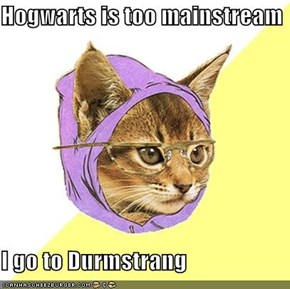 Hogwarts is too mainstream  I go to Durmstrang