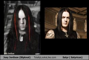 Joey Jordison (Slipknot) Totally Looks Like Satyr ( Satyricon)