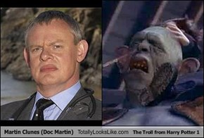 Martin Clunes (Doc Martin) Totally Looks Like The Troll from Harry Potter 1