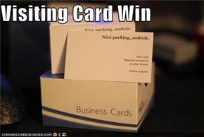 Visiting Card Win