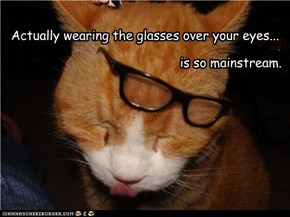 Sorry, Hipster Cat is just too mainstream