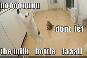 noooouuuu     dont  let the milk    bottle    faaall