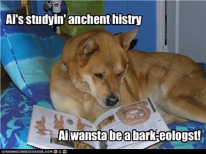 Ai's studyin' anchent histry