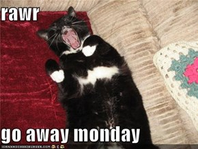 rawr  go away monday