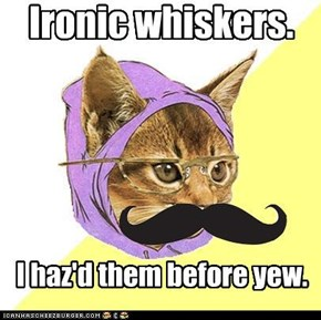 Hipster Kitty: Ironic Mustache