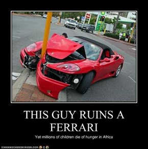 THIS GUY RUINS A FERRARI