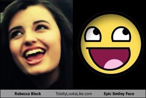 Rebecca Black Totally Looks Like Epic Smiley Face