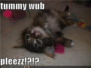 tummy wub  pleezz!?!?