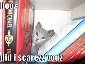 booz  did i scarezz youz