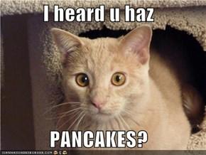 I heard u haz   PANCAKES?