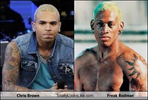 Chris Brown Totally Looks Like Freak Rodman